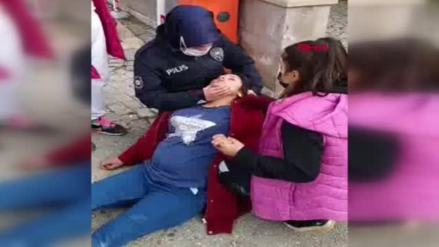 GAZİANTEP Baygınlık geçiren hamile kadına ilk müdahaleyi kadın polis memuru yaptı