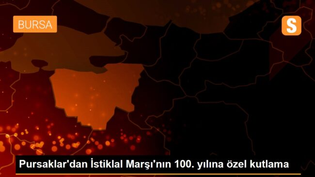 Pursaklar'dan İstiklal Marşı'nın 100. yılına özel kutlama